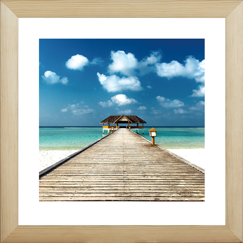 Картина Postermarket Пирс на пляже, 40 х 40 см картина postermarket тюльпан 40 х 40 см