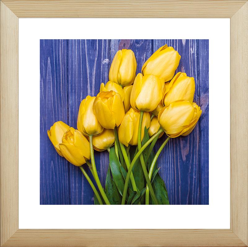 Картина Postermarket Желтые тюльпаны, 40 х 40 смMC-59Картина Postermarket Желтые тюльпаны прекрасно подойдет для декора интерьера различных помещений. Постер, выполненный в технике фотопечать, обрамлен паспарту и оформлен багетом бежевого цвета. Картина для интерьера (постер) - это современное и актуальное направление в дизайне помещений. Ее можно использовать для оформления любых помещений (дом, квартира, офис, бар, кафе, ресторан или гостиница). работоспособность. Правильное оформление интерьера создает благоприятный психологический климат, улучшает настроение и мотивирует.Размер картины: 400 x 400 мм.