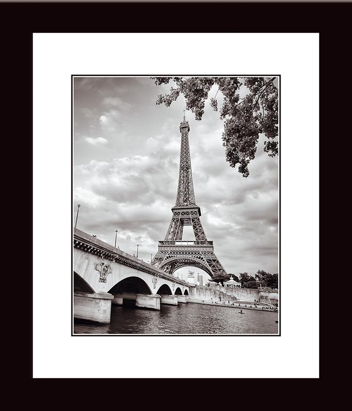 Картина Postermarket Эйфелева башня и мост Йена, 33 х 40 см пазлы magic pazle объемный 3d пазл эйфелева башня 78x38x35 см