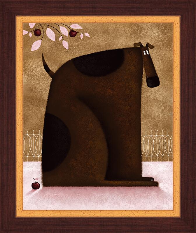 Картина Postermarket Пес и яблоки, 23 х 30 смPC 1132Картина Postermarket Пес и яблоки прекрасно подойдет для декора интерьера различных помещений. Постер, выполненный в технике фотопечать, оформлен багетом коричневого цвета. Картина для интерьера (постер) - это современное и актуальное направление в дизайне помещений. Ее можно использовать для оформления любых помещений (дом, квартира, офис, бар, кафе, ресторан или гостиница). работоспособность. Правильное оформление интерьера создает благоприятный психологический климат, улучшает настроение и мотивирует.Размер картины: 230 x 300 мм.