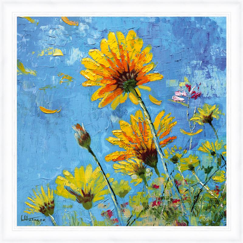 Картина Postermarket Ромашковое поле, 30 х 30 см. PM-3013 картины в квартиру картина sunrise 35х77 см