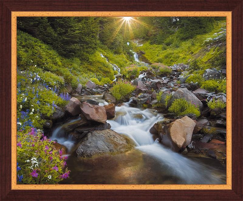 Картина Postermarket Горная речка, 40 х 50 см. PM-4020 картины в квартиру картина sunrise 35х77 см