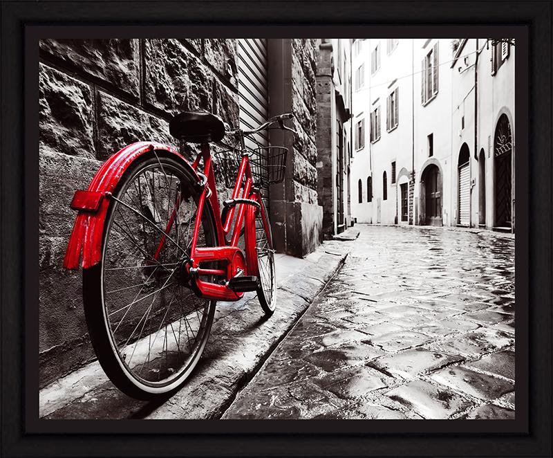 Картина Postermarket Красный велосипед в старом городе, 40 х 50 смPM-4036Картина Postermarket Красный велосипед в старом городе прекрасно подойдет для декора интерьера различных помещений.Постер, выполненный в технике фотопечать, оформлен багетом черного цвета.Картина для интерьера (постер) - это современное и актуальное направление в дизайне помещений. Ее можно использовать для оформления любых помещений (дом, квартира, офис, бар, кафе, ресторан или гостиница).работоспособность.Правильное оформление интерьера создает благоприятный психологический климат, улучшает настроение и мотивирует. Размер картины: 400 x 500 мм.