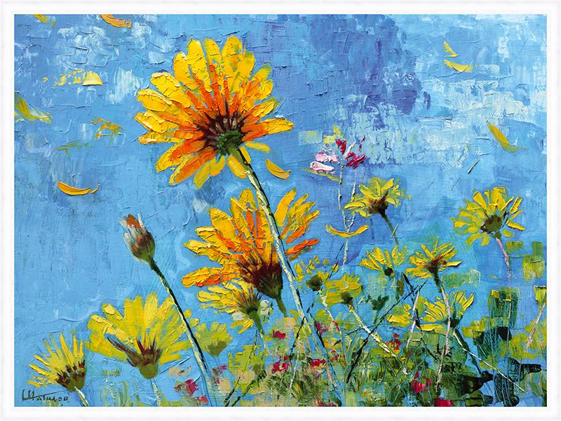 Картина Postermarket Ромашковое поле, 60 х 80 см. PM-6010 картины в квартиру картина sunrise 35х77 см