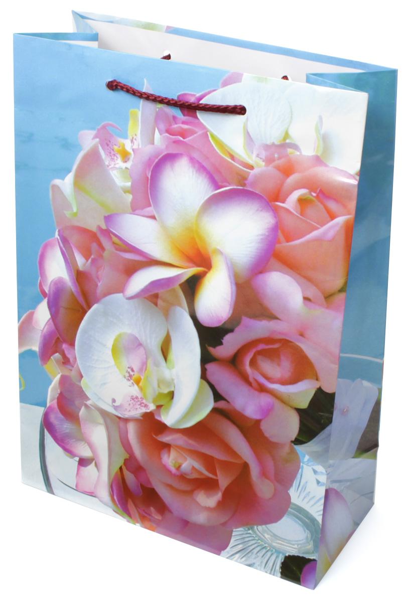 Пакет подарочный МегаМАГ Цветы, 22 х 31 х 10 см. 783 ML783 MLПодарочный пакет МегаМАГ, изготовленный из плотной ламинированной бумаги, станет незаменимым дополнением к выбранному подарку. Для удобной переноски на пакете имеются две ручки-шнурки.Подарок, преподнесенный в оригинальной упаковке, всегда будет самым эффектным и запоминающимся. Окружите близких людей вниманием и заботой, вручив презент в нарядном, праздничном оформлении.
