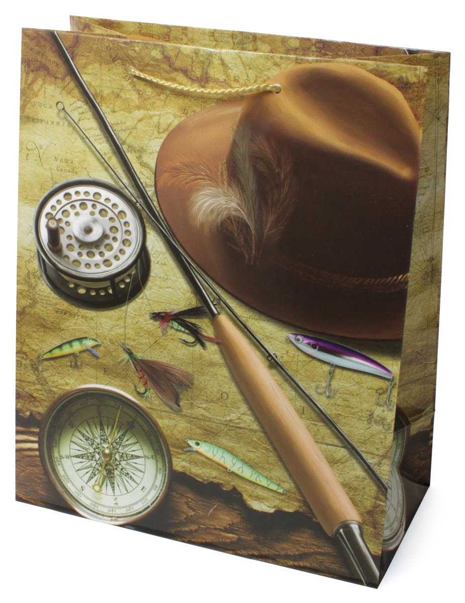 Пакет подарочный МегаМАГ Удочка. Компас. Шляпа, 26,4 х 32,7 х 13,6 см. 3128 L3128 LПодарочный пакет МегаМАГ, изготовленный из плотной ламинированной бумаги, станет незаменимым дополнением к выбранному подарку. Для удобной переноски на пакете имеются две ручки-шнурки.Подарок, преподнесенный в оригинальной упаковке, всегда будет самым эффектным и запоминающимся. Окружите близких людей вниманием и заботой, вручив презент в нарядном, праздничном оформлении.