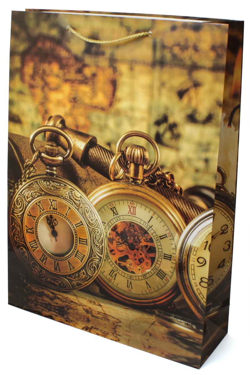 Пакет подарочный МегаМАГ Карта. Часы, 32,4 х 44,5 х 10,2 см. 5048 XL5048 XLПодарочный пакет МегаМАГ, изготовленный из плотной ламинированной бумаги, станет незаменимым дополнением к выбранному подарку. Для удобной переноски на пакете имеются две ручки-шнурки.Подарок, преподнесенный в оригинальной упаковке, всегда будет самым эффектным и запоминающимся. Окружите близких людей вниманием и заботой, вручив презент в нарядном, праздничном оформлении.