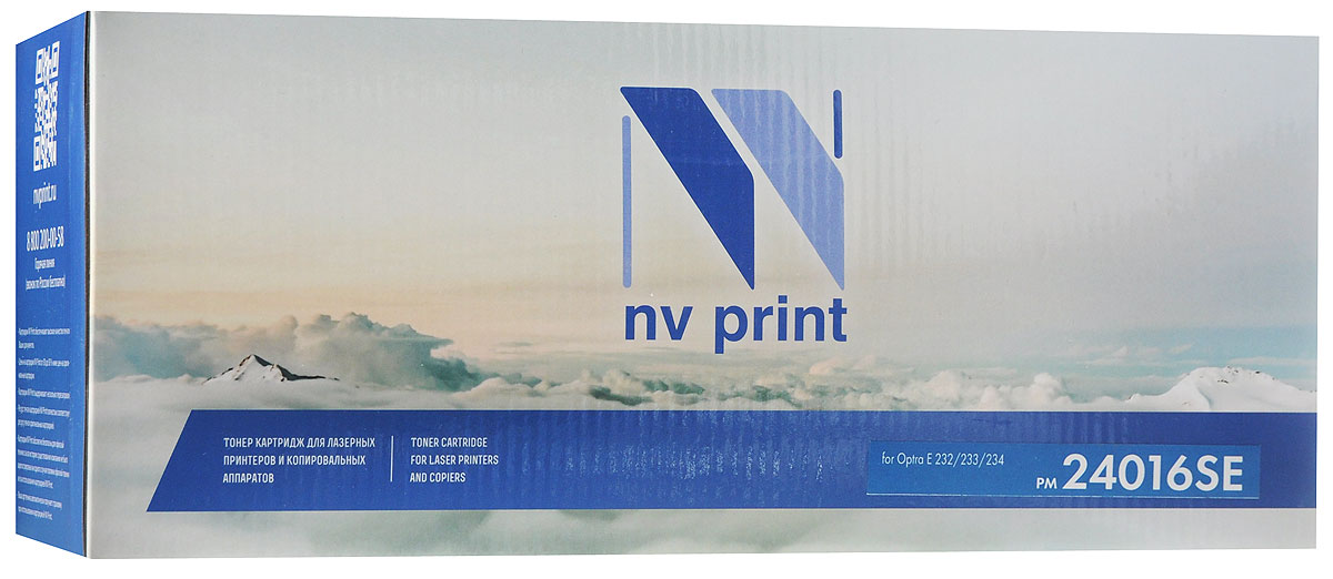 NV Print 24016SE, Black тонер-картридж для Lexmark Optra E 232/233/234 chip for lexmark optra 658dte for lexmark 40x4724 for lexmark optra 652 dn laser black smart chip free shipping