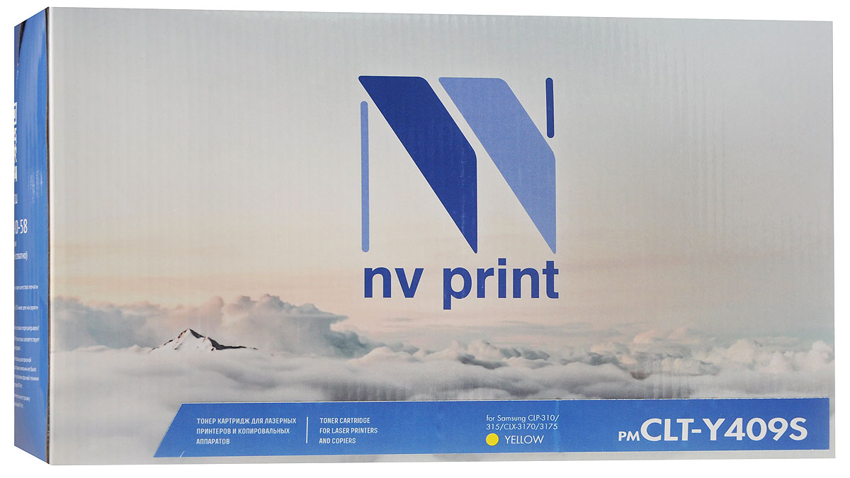 NV Print CLT-Y409S, Yellow тонер-картридж для Samsung CLP-310/315/CLX-3170/3175 nv print clp 350m magenta тонер картридж для samsung clp 350 350n 351nk