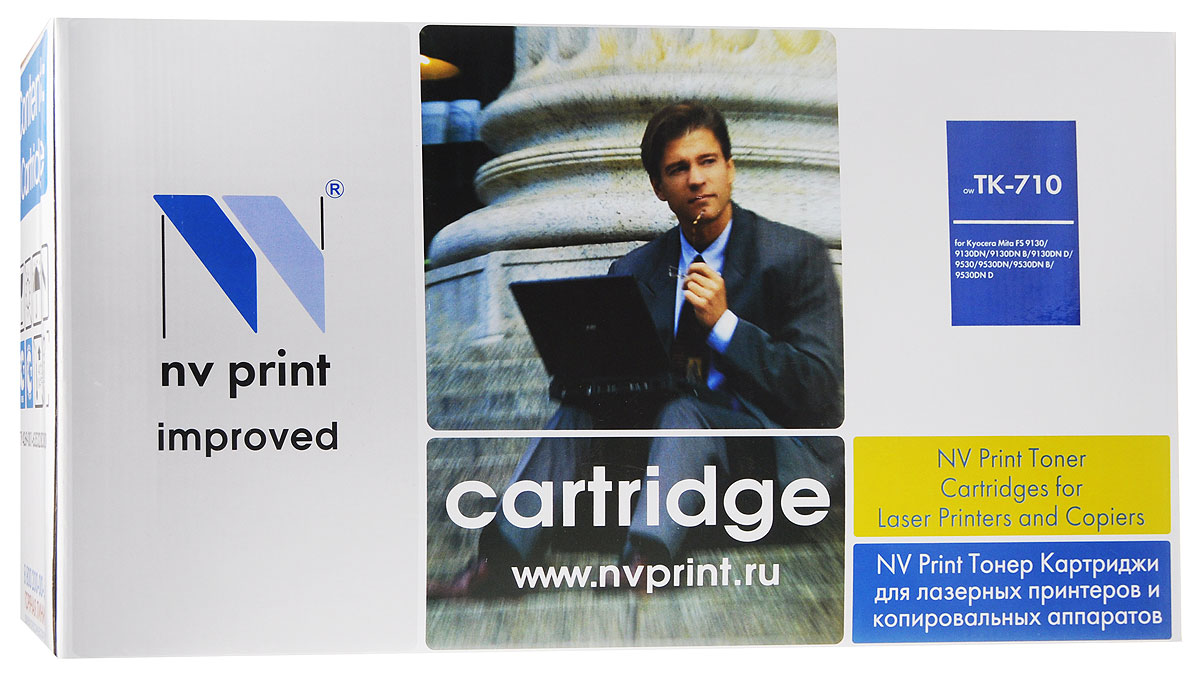 NV Print TK-710, Black тонер-картридж для Kyocera FS-9130DN/9530DN картридж для принтера nv print для hp cf403x magenta