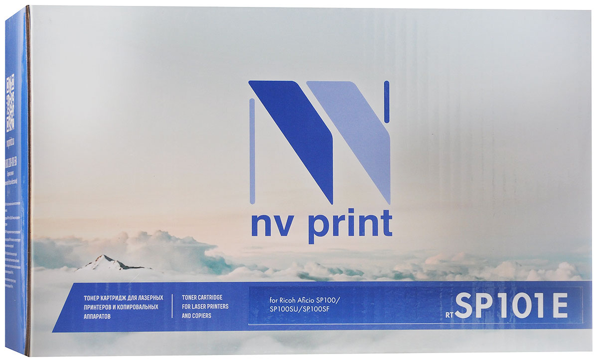 NV Print SP101E, Black тонер-картридж для Ricoh SP100 картридж для принтера nv print samsung mlt d109s black