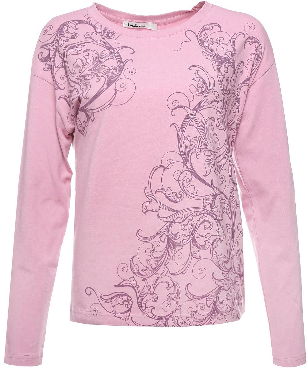 Купить Лонгслив женский BeGood, цвет: сиренево-розовый. AW16-BGUZ-711. Размер 56