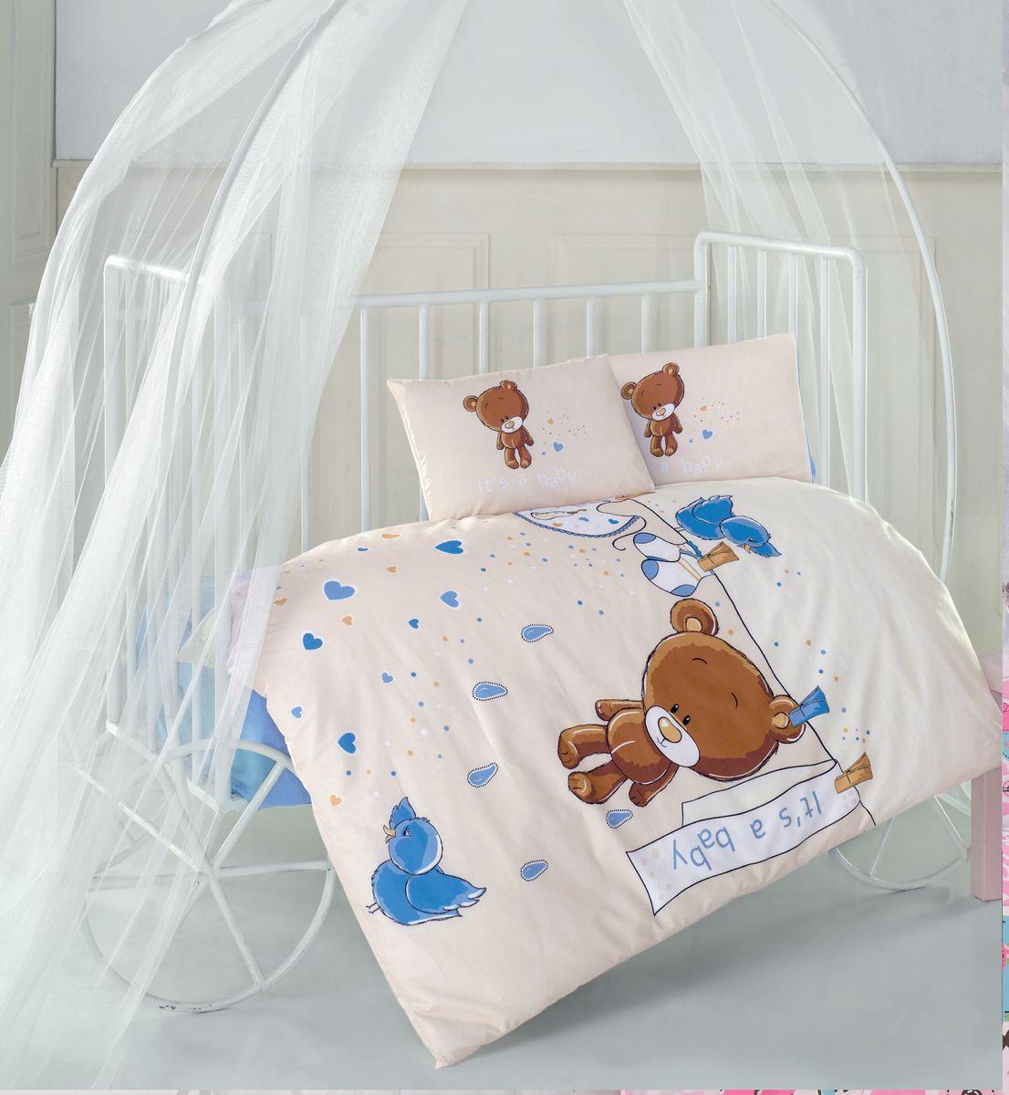 Clasy Комплект детского постельного белья Teddy 4 предмета цвет голубой наволочки 35 х 45 см 5227