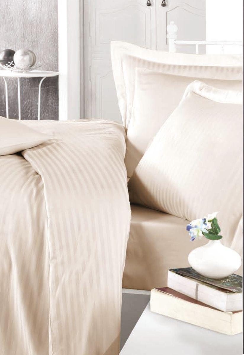 Комплект белья Clasy Stripe Satin, евро, наволочки 50х70, цвет: капучино5242Комплект постельного белья Clasy Stripe Satin состоит из пододеяльника, простыни и четырех наволочек. Выбирая постельное белье Clasy вы будете приятно удивлены качественной выделкой ткани, красивыми и модными расцветками, а так же его отличным качеством. Все наволочки у комплектов Clasy имеют клапан без пуговиц и молнии. Все пододеяльники с пуговицами на нижнем конце. Все изделия упакованы в подарочные картонные коробки, к которым прилагается фирменный пакет с логотипом.