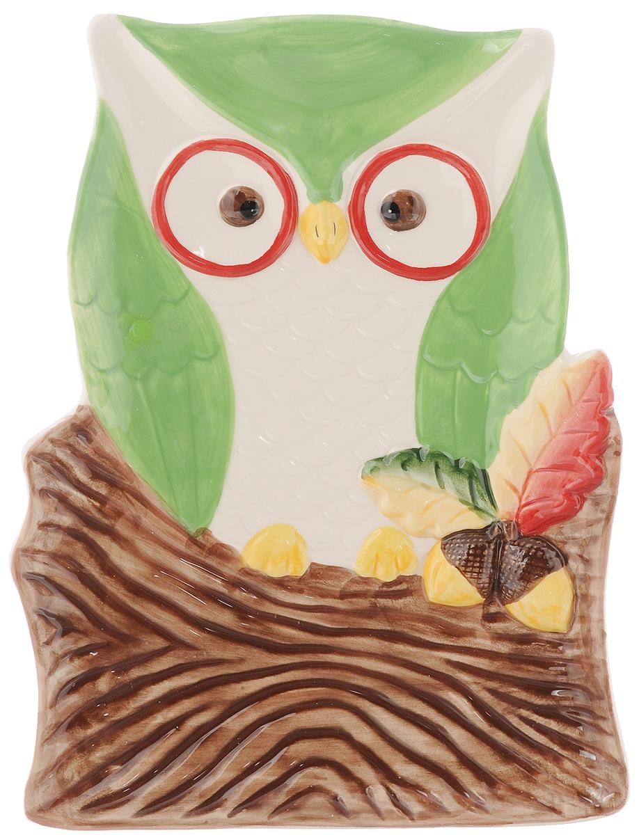 Тарелка House & Holder Сова 26,4 х 19 смDP-B63-69347A/BТарелка House & Holder Сова, изготовленная из керамики в виде совы в гнезде. Такая тарелка украсит сервировку вашего стола и подчеркнет прекрасный вкус хозяина, а также станет отличным подарком. Размер: 26,4 х 19 см. Высота: 2,3 см.