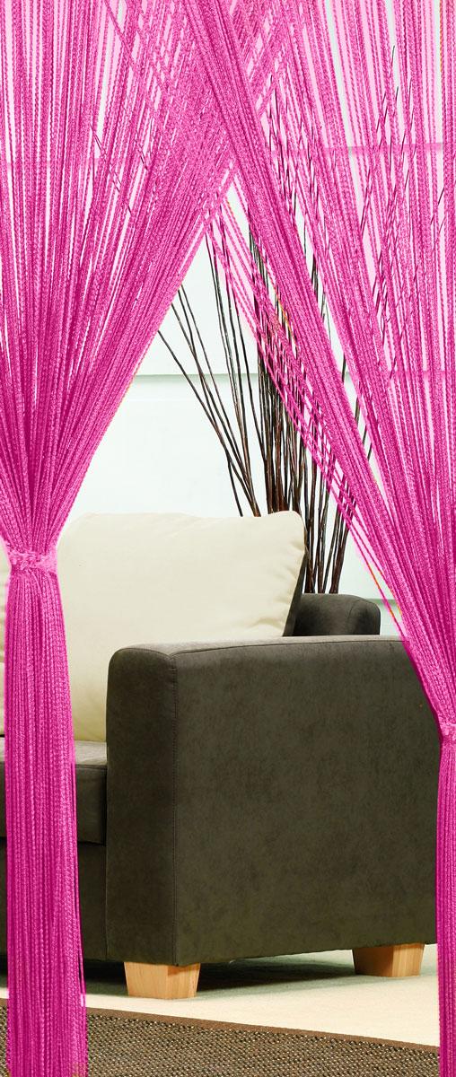Гардина-лапша Haft, на кулиске, цвет: розовый, высота 250 см. 46990