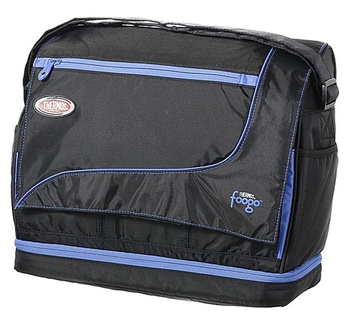 Сумка-термос Foogo Large Diaper Sporty Bag, цвет: черный, голубой, 31 х 34 х 14,5 см003140Сумка-термос Foogo Large DiaperSporty Bag Серия предназначена для мам и детей младенческого возраста. Вот почему эта серия изотермических сумок не только отвечает требованиям сохранения температуры продуктов, преимущественно в режиме тепло, но и имеет много дополнительных отделений, позволяющих собрать всю необходимую экипировку для прогулки или поездки мамы и ребенка.