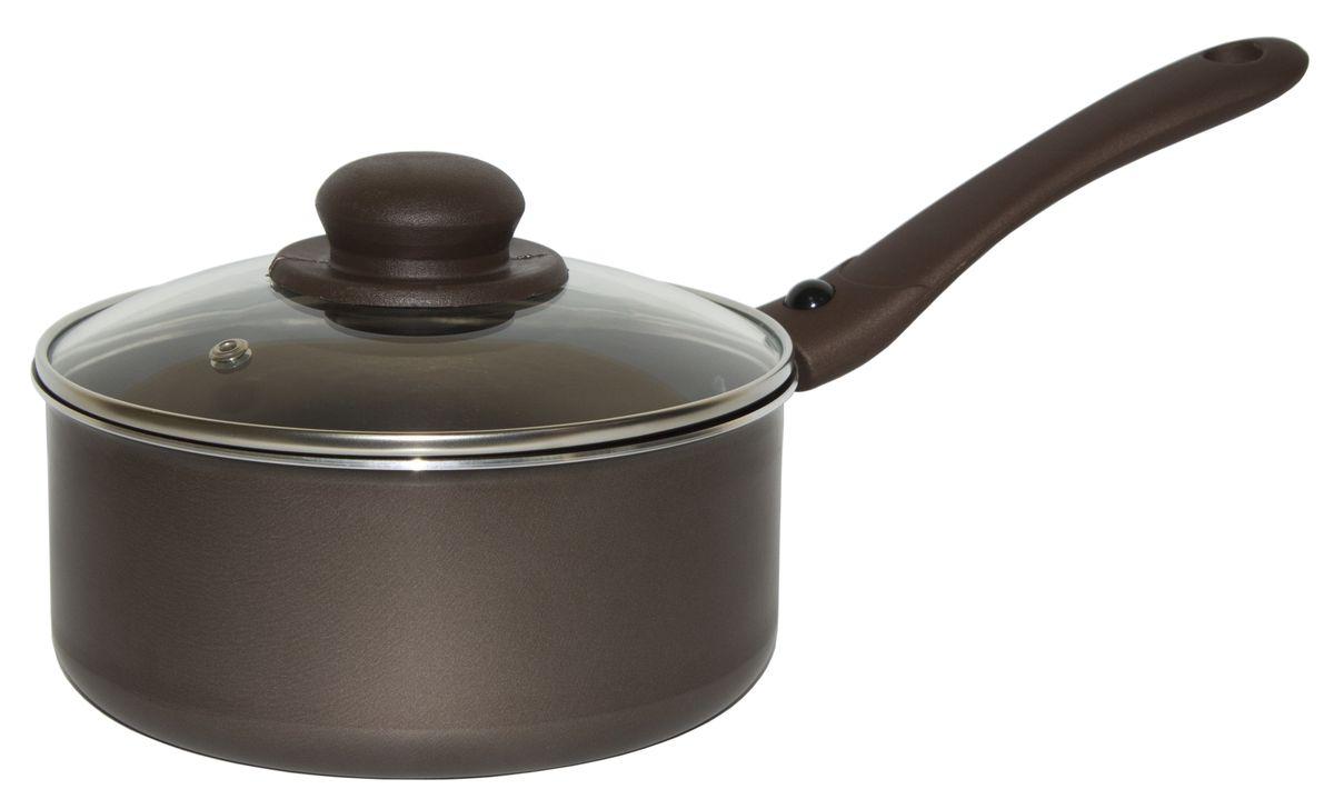 Ковш Jarko Compliment с крышкой, со съемной ручкой, с антипригарным покрытием, цвет: коричневый. Диаметр 18 смJBrS-418-21Ковш Jarko Compliment изготовлен из высококачественного алюминия с внутренним пятислойным антипригарным покрытием. Покрытие не оставляет послевкусия, делает возможным приготовление блюд без масла, сохраняет витамины и питательные вещества. Оно обладает повышенной стойкостью к царапинам и внешним воздействиям. Эргономичная бакелитовая ручка не нагревается в процессе приготовления пищи. Крышка из термостойкого стекла снабжена металлическим ободом, удобнойбакелитовой ручкой и отверстием для выпуска пара. Такая крышка позволит следить запроцессом приготовления пищи без потери тепла. Она плотно прилегает к краям ковша, сохраняя аромат блюд. Ковш пригоден для использования на всех типах плит, кроме индукционных. Подходит для мытья в посудомоечной машине.