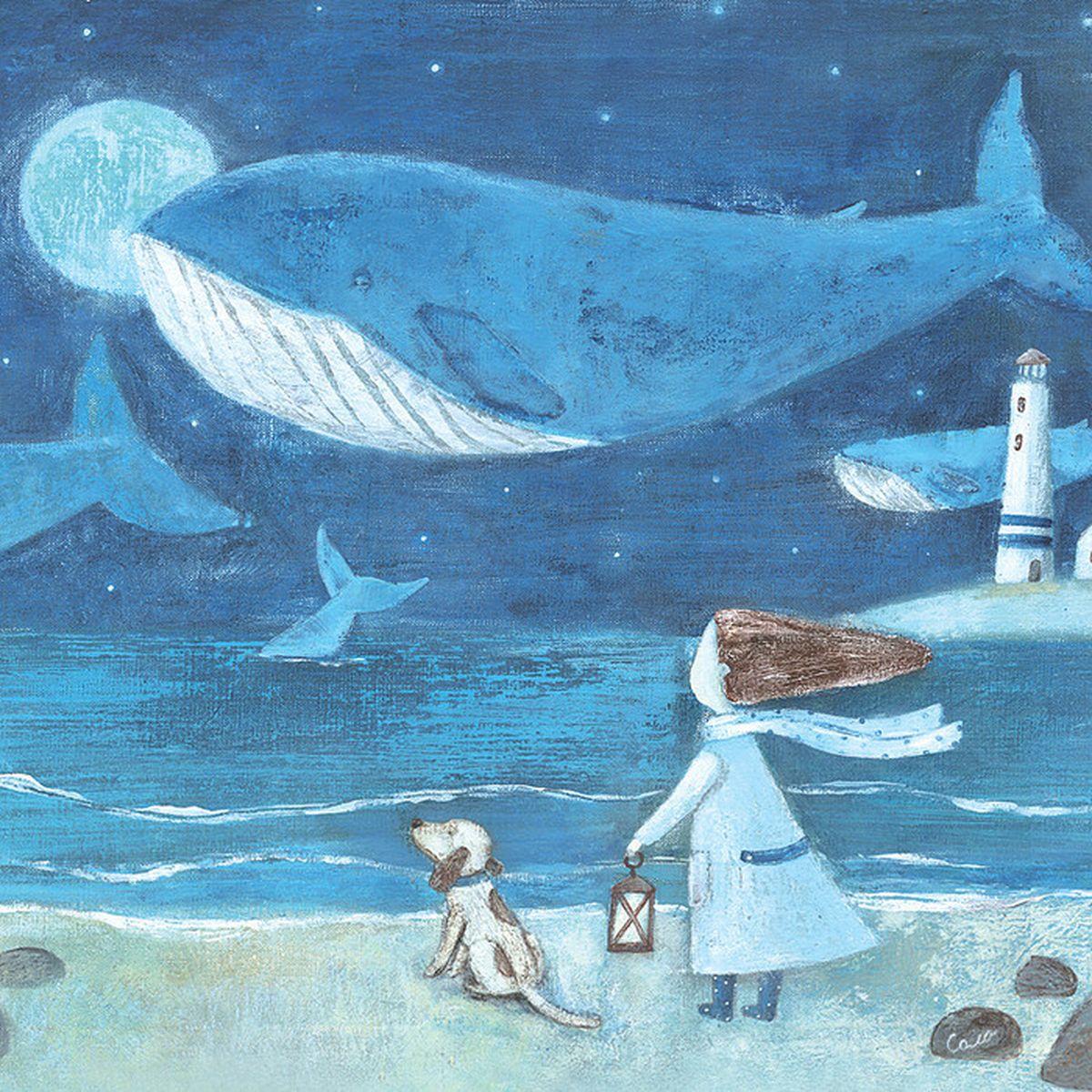 Оригинальная дизайнерская открытка «Полнолуние» выполнена из плотного матового картона. На лицевой стороне расположена репродукция картины художницы Светланы Соловьевой с изображением девушки, смотрящей на полет китов над океаном. Такая открытка станет великолепным дополнением к новогоднему подарку или оригинальным почтовым посланием, которое, несомненно, удивит получателя своим дизайном и подарит приятные воспоминания.