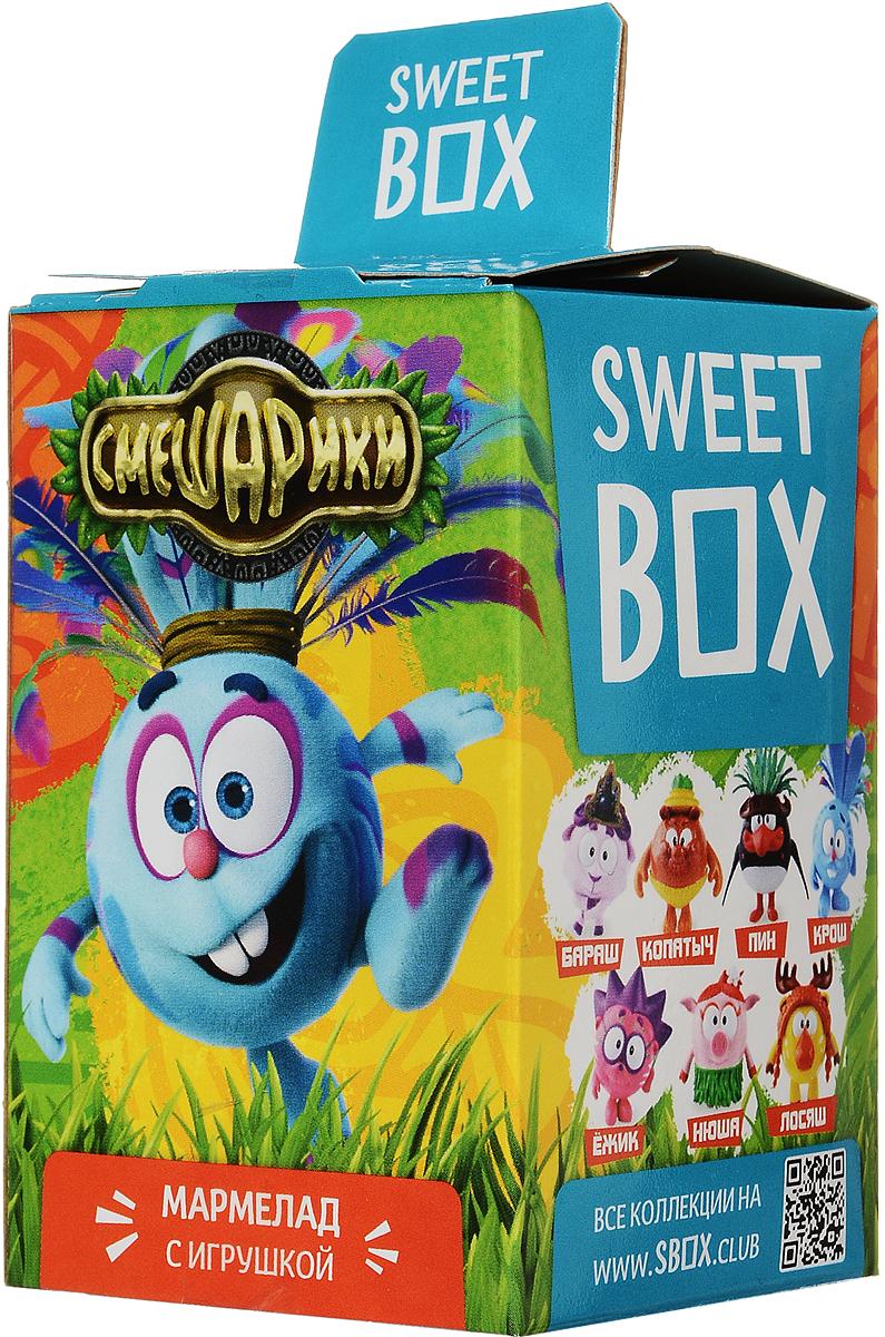 Sweet Box Смешарики мармелад жевательный с игрушкой, 10 г бумба крутые виражи жевательный мармелад 105 г