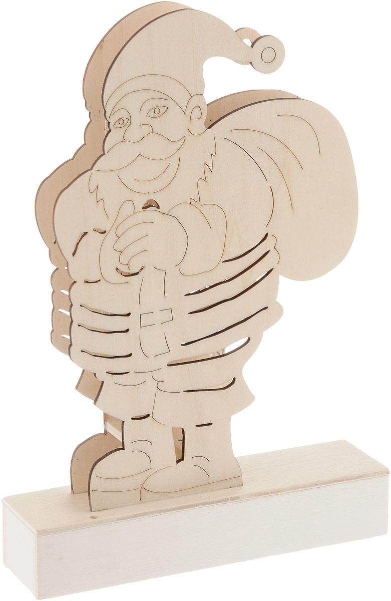 Заготовка деревянная House & Holder Дед Мороз, с подсветкой, высота 25,5 см фигурка декоративная house & holder дед мороз с подсветкой высота 9 см