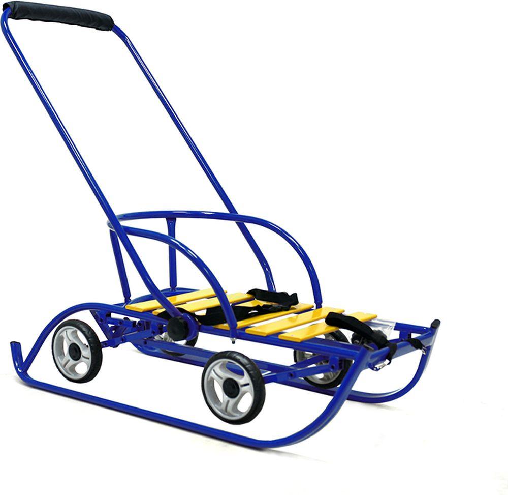 Санимобиль Санки с колесами Премиум цвет синий