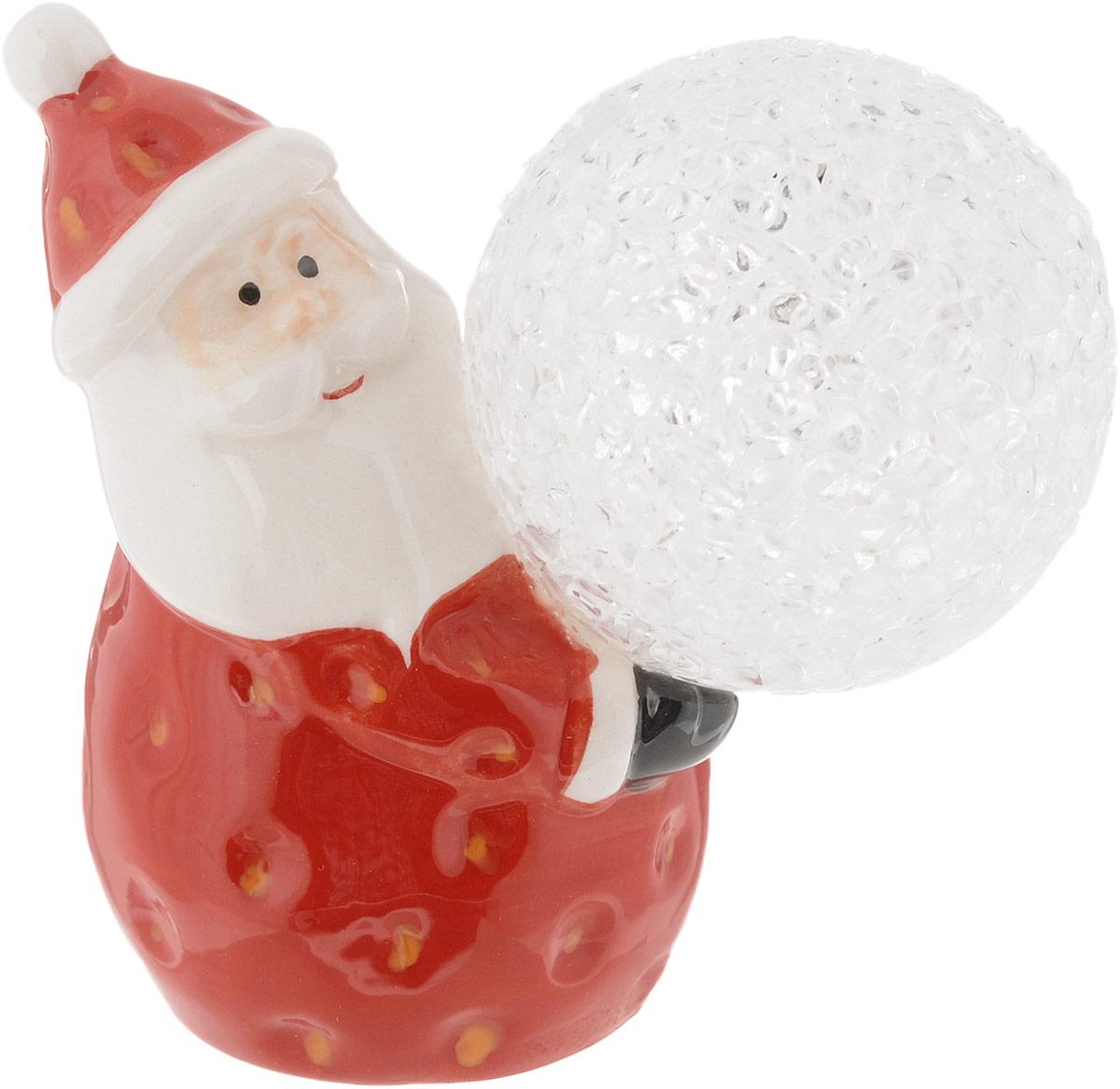 Фигурка декоративная House & Holder Дед Мороз, с подсветкой, высота 9 см игровые фигурки maxitoys фигура дед мороз в плетеном кресле музыкальный