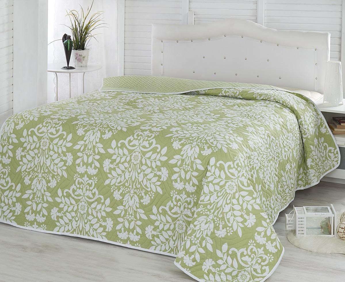 Покрывало Karna Modalin, стеганое, цвет: белый, светло-зеленый, 200 х 220 см2086/CHAR010Покрывало Karna Modalin изготовлено из 100% полиэстера. Полиэстер является синтетическим волокном. Ткань, полностью изготовленная из полиэстера, даже после увлажнения, очень быстро сохнет. Изделия из полиэстера практически не требовательны к уходу и обладают высокой устойчивостью к износу. Изделия из полиэстера не мнутся и легко стираются, после стирки очень быстро высыхают. Материал очень прочный, за время использования не растягивается и не садится. А также обладает высокой влагонепроницаемостью.