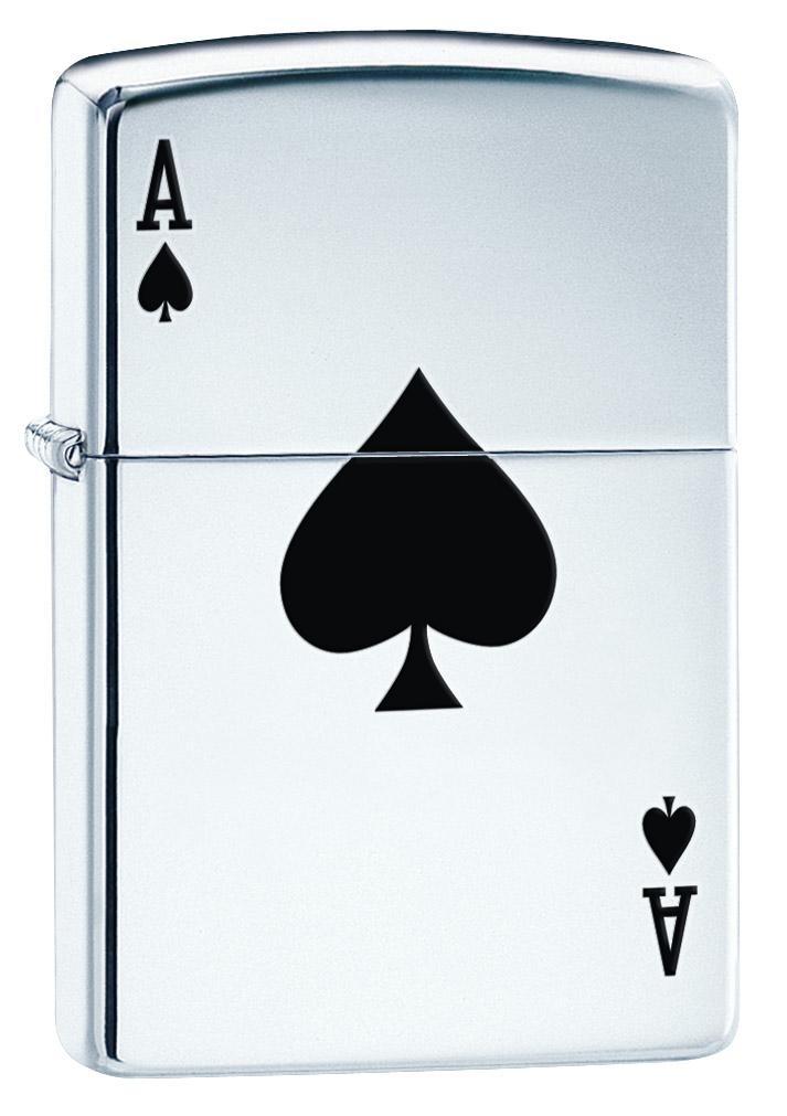"""Зажигалка Zippo """"Lucky Ace"""", 3,6 х 1,2 х 5,6 см"""