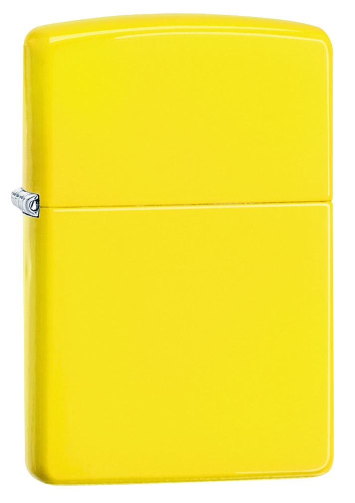 Зажигалка Zippo Classic Lemon, цвет: желтый. 24839 zippo зажигалку в архангельске