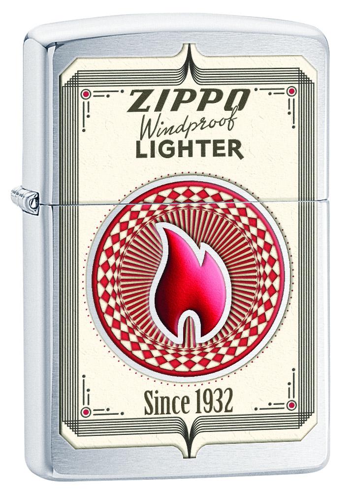 Зажигалка Zippo Classic Brushed Chrome. 28831 zippo зажигалку в архангельске