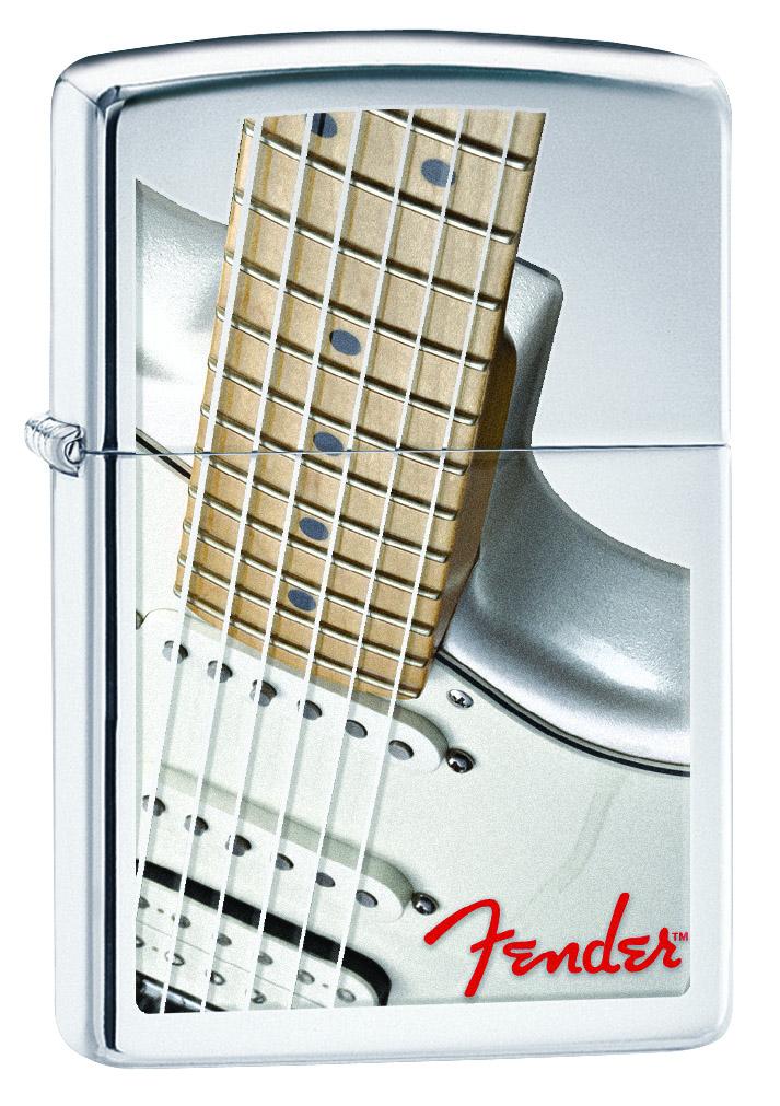 """Зажигалка Zippo """"Fender"""", 3,6 х 1,2 х 5,6 см. 28845"""