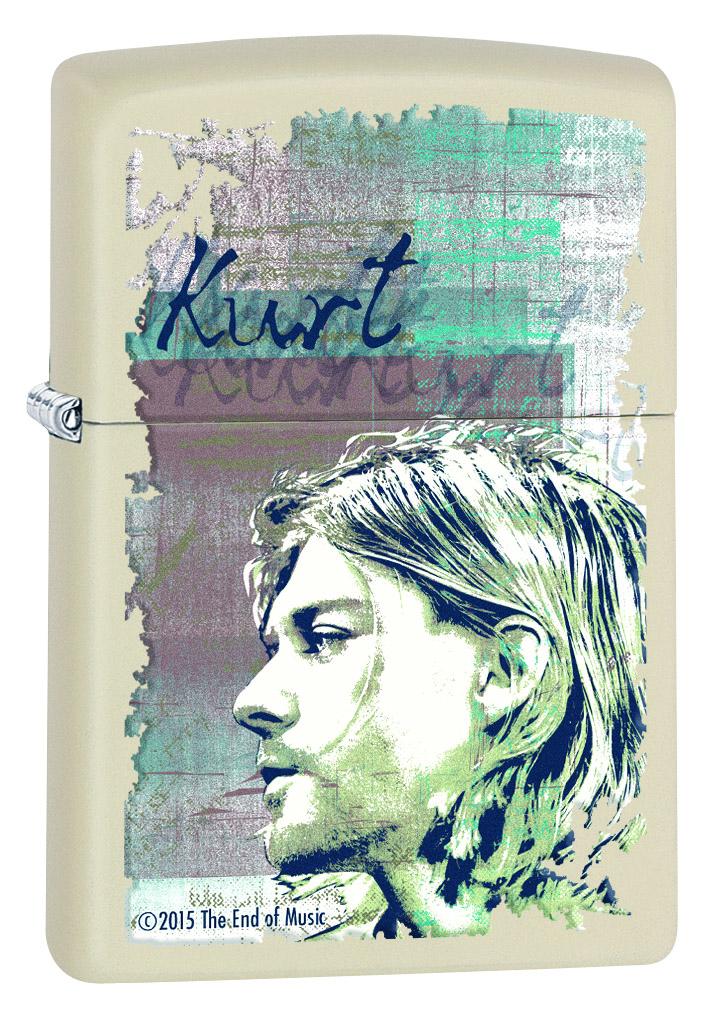 """Зажигалка Zippo """"Kurt Cobain"""", 3,6 х 1,2 х 5,6 см. 29051"""