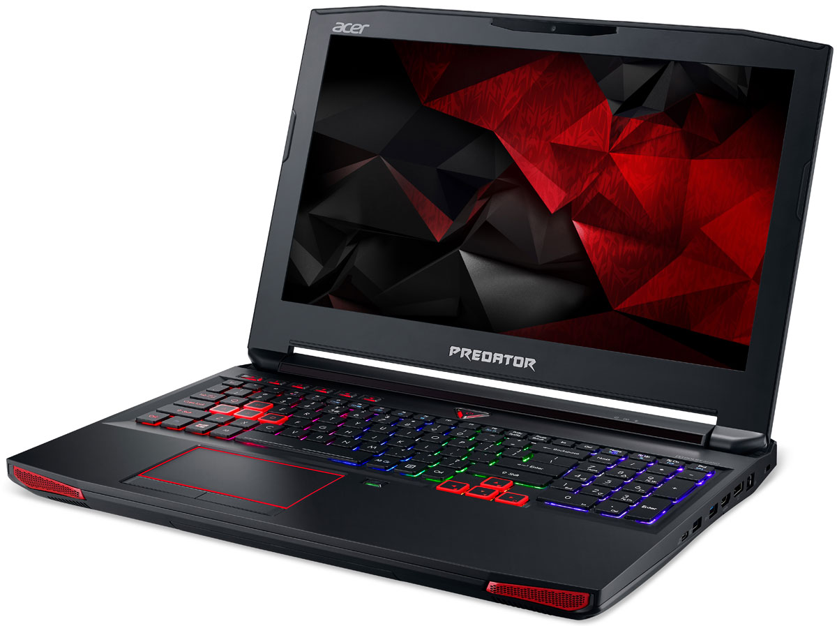 Acer Predator G9-593-76N9, BlackG9-593-76N9Впечатляющая мощность и превосходный стиль - все это в одном ноутбуке. Острые и агрессивные черты напоминают космические крейсеры, а выхлопные отверстия сзади дополняют агрессивный дизайн ноутбуку. Acer Predator G9-593 оснащен высокотехнологичным аппаратным обеспечением и инновационной системой охлаждения. В аппаратную конфигурацию ноутбука входит процессор Intel Core i7 шестого поколения, оперативная память DDR4 и дискретная видеокарта NVIDIA GeForce GTX 1070M. Мощные компоненты обеспечивают высокую скорость в современных играх и тяжелых приложениях, например при редактировании видео.Легко обжечься в пылу настоящей битвы. Сохраняйте хладнокровие благодаря усовершенствованной технологии охлаждения. Cooler Master поможет снизить температуру и повысить производительность. А решение Predator FrostCore пригодится вам во время жарких игровых баталий.Отсутствие задержек при подключении зачастую решает исход сетевых поединков. Управляйте подключением к Интернету с помощью технологии Killer DoubleShot Pro. Эта технология позволяет выбрать, какие приложения могут получить доступ к драгоценной пропускной способности. И самое главное - она позволяет использовать для доступа в Интернет проводные и беспроводные подключения одновременно.Predator DustDefender защитит основные компоненты вашего устройства от грязи и пыли. Переменное направление воздушного потока и ультратонкий вентилятор толщиной всего 0,1 мм AeroBlade, полностью выполненный из металла и отличающийся улучшенными аэродинамическими характеристиками, защитит устройство от скопления пыли.Благодаря программе PredatorSense в вашем распоряжении окажутся расширенные настройки для создания уникальной игровой атмосферы. PredatorSense предоставляет доступ к таким игровым функциям, как профили макросов клавиатуры, позволяющие переключаться между игровой конфигурацией и регулировать подсветку.Клавиатура Predator ProZone RGB имеет настраиваемые области подсветки, для которых можно выбра