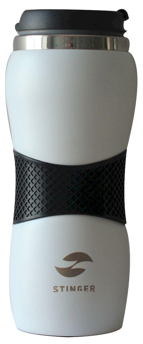 Термокружка Stinger, цвет: белый, 400 млHY-AM686-WТермокружка Stinger поможет сохранить тепло и вкус вашего напитка, поднимет настроение горячим кофе или чаем в любой морозный день. Характеристики: - корпус: нержавеющая сталь; - цвет: белый матовый; силиконовое кольцо черного цвета; - внутренний резервуар: двойные стенки из нержавеющей стали; - крышка: полипропилен; - объем: 400 мл; - вес: 235 г. Сохраняет температуру горячих напитков в течение 2 часов, холодных -в течение 6 часов.
