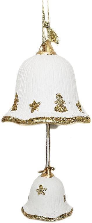 Украшение декоративное подвесное Lillo Колокольчик, высота 8,5 смDE2-0426Декоративное подвесное украшение Lillo Колокольчик выполнено из керамики в виде колокольчиков. Изделие оформлено блестками. С помощью специальной петельки украшение можно повесить в любом понравившемся вам месте.Елочная игрушка - символ Нового года. Она несет в себе волшебство и красоту праздника. Создайте в своем доме атмосферу веселья и радости, украшая Размеры: 9,2 х 9,2 х 8,5 см.