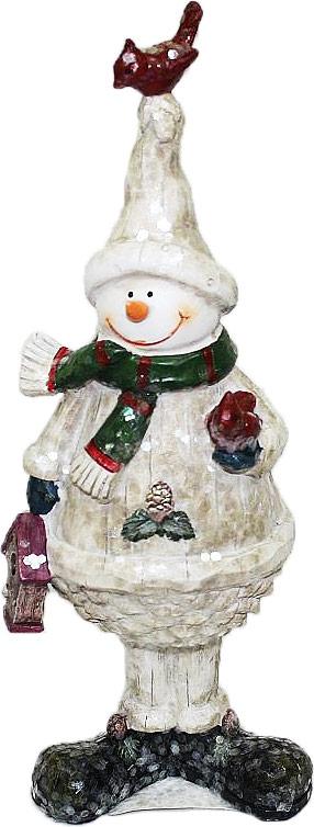 Фигурка декоративная Family & Friends Снеговик. 10011111001111Декоративная фигурка Family & Friends изготовлена из керамики. Она выполнена в виде снеговика. Такая фигурка будет потрясающе смотреться в интерьере комнаты и станет прекрасным сувениром.