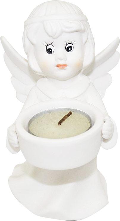 """Подсвечник Lillo """"Ангел"""", выполненный из керамики, украсит интерьер вашего дома или офиса. Оригинальный дизайн и красочное исполнение создадут праздничное настроение. Подсвечник выполнен в форме ангела, держащего в руках небольшую чашечку. Внутри чашечки - парафиновая свеча.Вы можете поставить подсвечник в любом месте, где он будет удачно смотреться, и радовать глаз. Кроме того - это отличный вариант подарка для ваших близких и друзей в преддверии Нового года."""