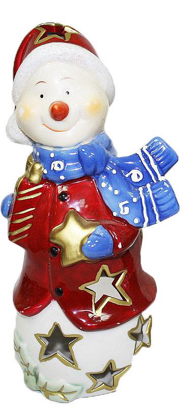 Подсвечник Lillo, цвет: красный, белый, синий, высота 22 см20111209Подсвечник Lillo, выполненный из керамики, украсит интерьер вашего дома или офиса. Оригинальный дизайн и красочное исполнение создадут праздничное настроение. Подсвечник выполнен в форме снеговика.Вы можете поставить подсвечник в любом месте, где он будет удачно смотреться, и радовать глаз. Кроме того - это отличный вариант подарка для ваших близких и друзей в преддверии Нового года.