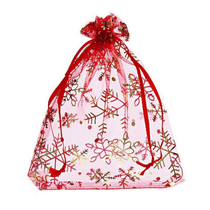 Мешок для подарков Eva, цвет: красный, 22 х 18 см. А191А191