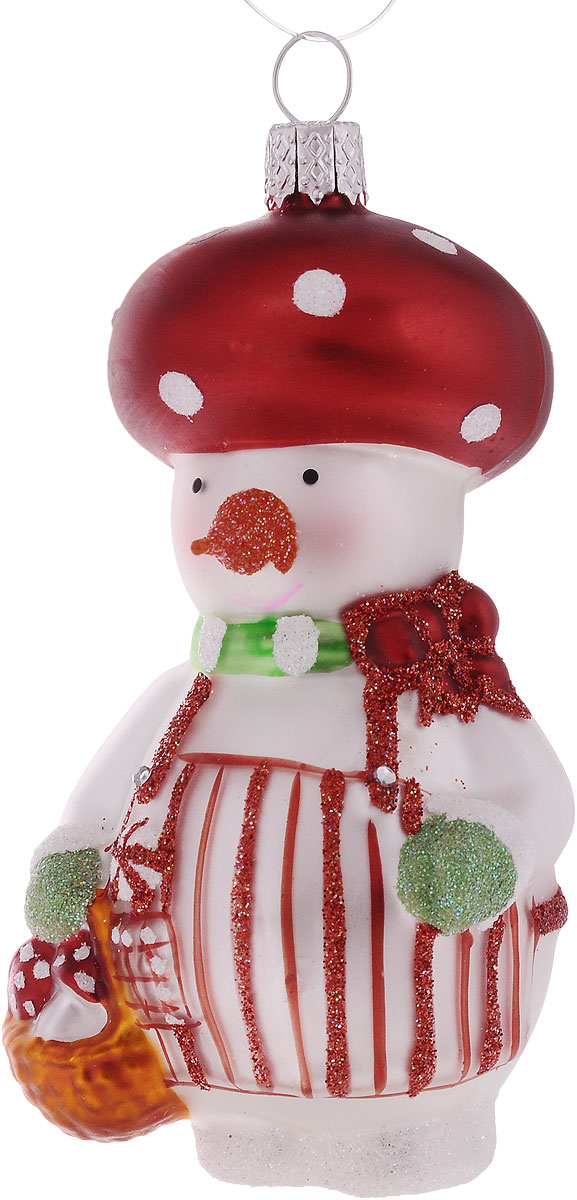 Украшение декоративное Winter Wings Снеговичик-лесовички, высота 9 смN07619Новогоднее подвесное украшение Winter Wings Снеговички-лесовички выполнено из стекла. С помощью специальной петельки украшение можно повесить в любом понравившемся вам месте. Но, конечно, удачнее всего оно будет смотреться на праздничной елке.Елочная игрушка - символ Нового года. Она несет в себе волшебство и красоту праздника. Создайте в своем доме атмосферу веселья и радости, украшая новогоднюю елку нарядными игрушками, которые будут из года в год накапливать теплоту воспоминаний.Размер: 5 х 4 х 9 см.
