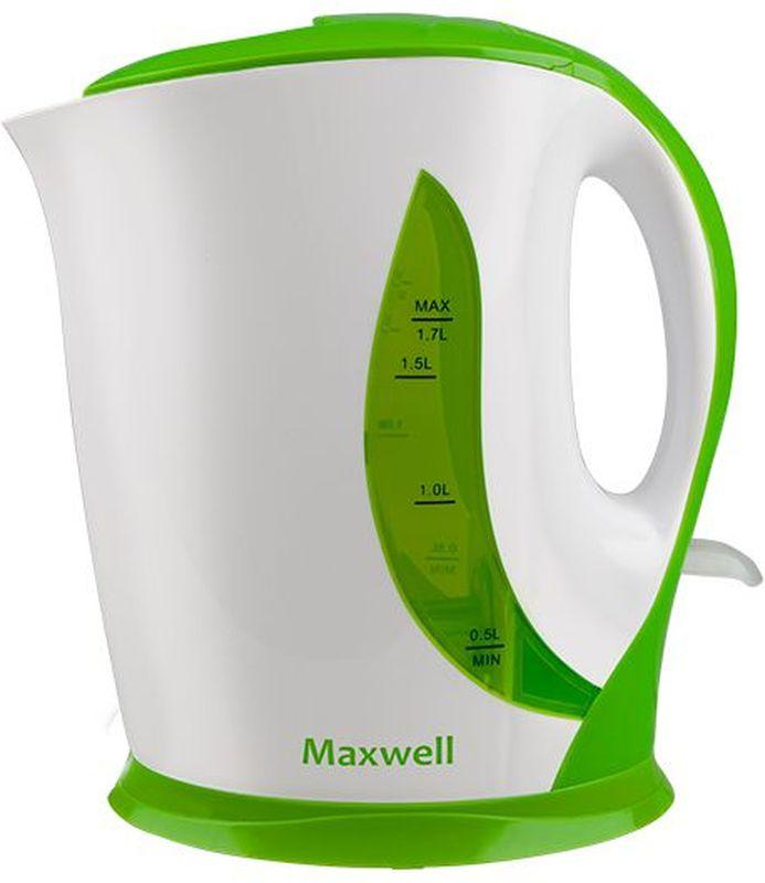 Maxwell 1062-MW G чайник электрическийMW-1062(G)Электрочайник Maxwell 1062-MW изготовлен из прочного термостойкого пластика. Внутри прибора находится открытый нагревательный элемент. Данная модель позволит быстро вскипятить до 1,7 литра воды благодаря мощности 2200 Вт.