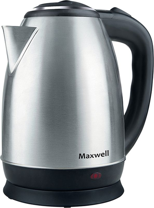 Maxwell 1078-MW ST чайник электрическийMW-1078(ST)Чайник Maxwell 1078-MW ST - модель выполнена из нержавеющей стали, внутри находится скрытый нагревательный элемент. При закипании чайник автоматически выключается. В цокольной подставке находится электрошнур. Благодаря мощности 1800 Вт чайник обеспечит очень быстрое вскипание.