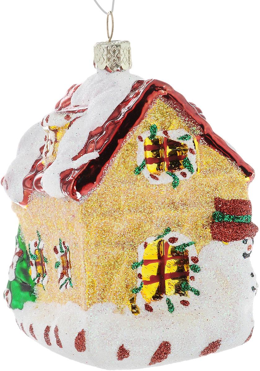 Украшение новогоднее подвесное Winter Wings Дом карамельный, высота 9,5 см украшение новогоднее оконное magic time дед мороз с самоваром двустороннее 30 х 32 см