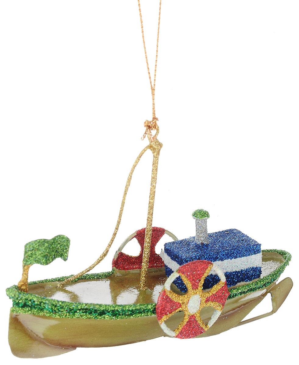 Украшение новогоднее подвесное Winter Wings Кораблик, 11 х 3,2 х 7,5 смN181604Украшение Winter Wings Кораблик прекрасно подойдет для праздничного декора новогодней ели. Изделие выполнено из металла и украшено блестками. Для удобного размещения на елке предусмотрена текстильная петелька.Елочная игрушка - символ Нового года. Она несет в себе волшебство и красоту праздника. Создайте в своем доме атмосферу веселья и радости, украшая новогоднюю елку нарядными игрушками, которые будут из года в год накапливать теплоту воспоминаний.
