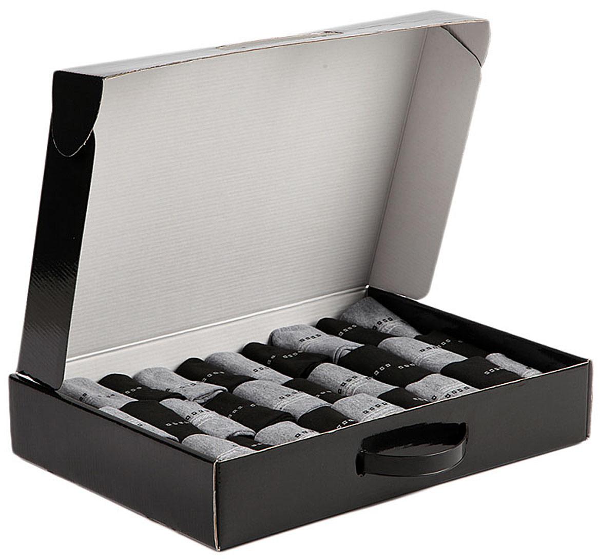 Комплект носков мужских Соксы, цвет: серый, черный, 30 пар. 017. Размер 39/43 jd коллекция светло телесный 12 пар носков 15d две кости размер