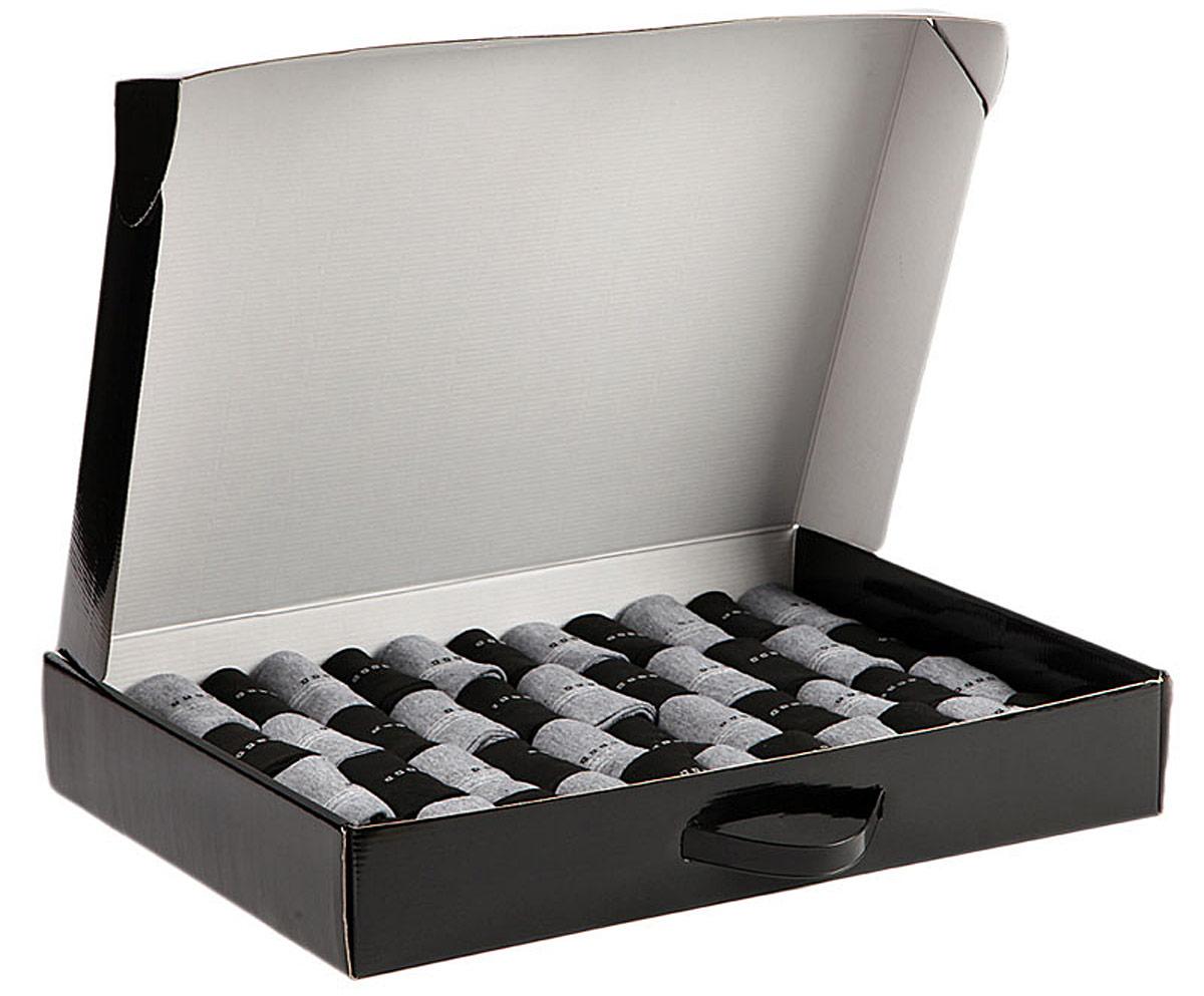 Комплект мужских носков Соксы, цвет: серый, черный, 50 пар. 018. Размер 39/43018Носки Соксы изготовлены из полиэстера с добавлением эластана, комфортных при носке. Эластичная резинка плотно облегает ногу, не сдавливая ее, обеспечивая комфорт и удобство. В комплект входят 50 пар носков.