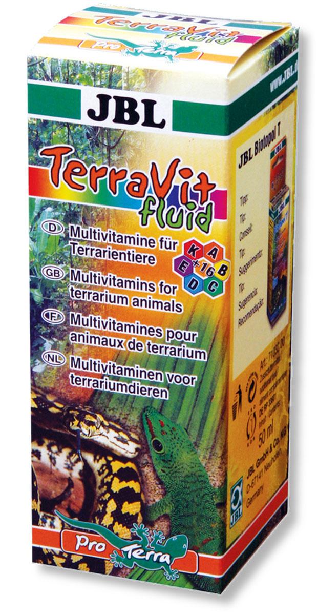 JBL TerraVit fluid Препарат в виде жидкой эмульсии, содержащий мультивитамины для обитателей террариума, 50 мл