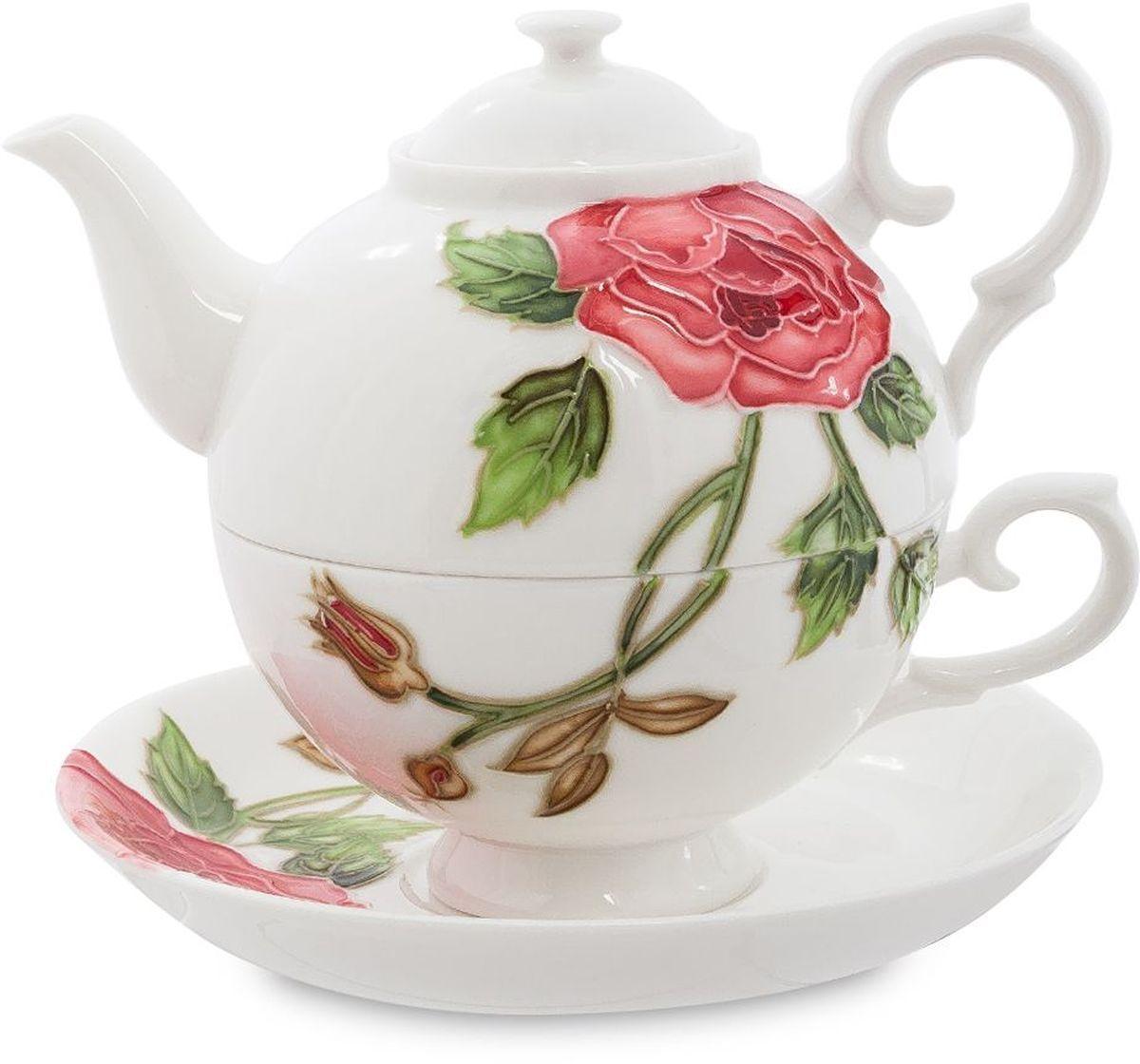 Набор чайный Pavone Рафаэлло. Роза, 3 предмета. 451581451581Объем чайника: 400 млОбъем чаши: 250 млДиаметр блюдца: 15 см