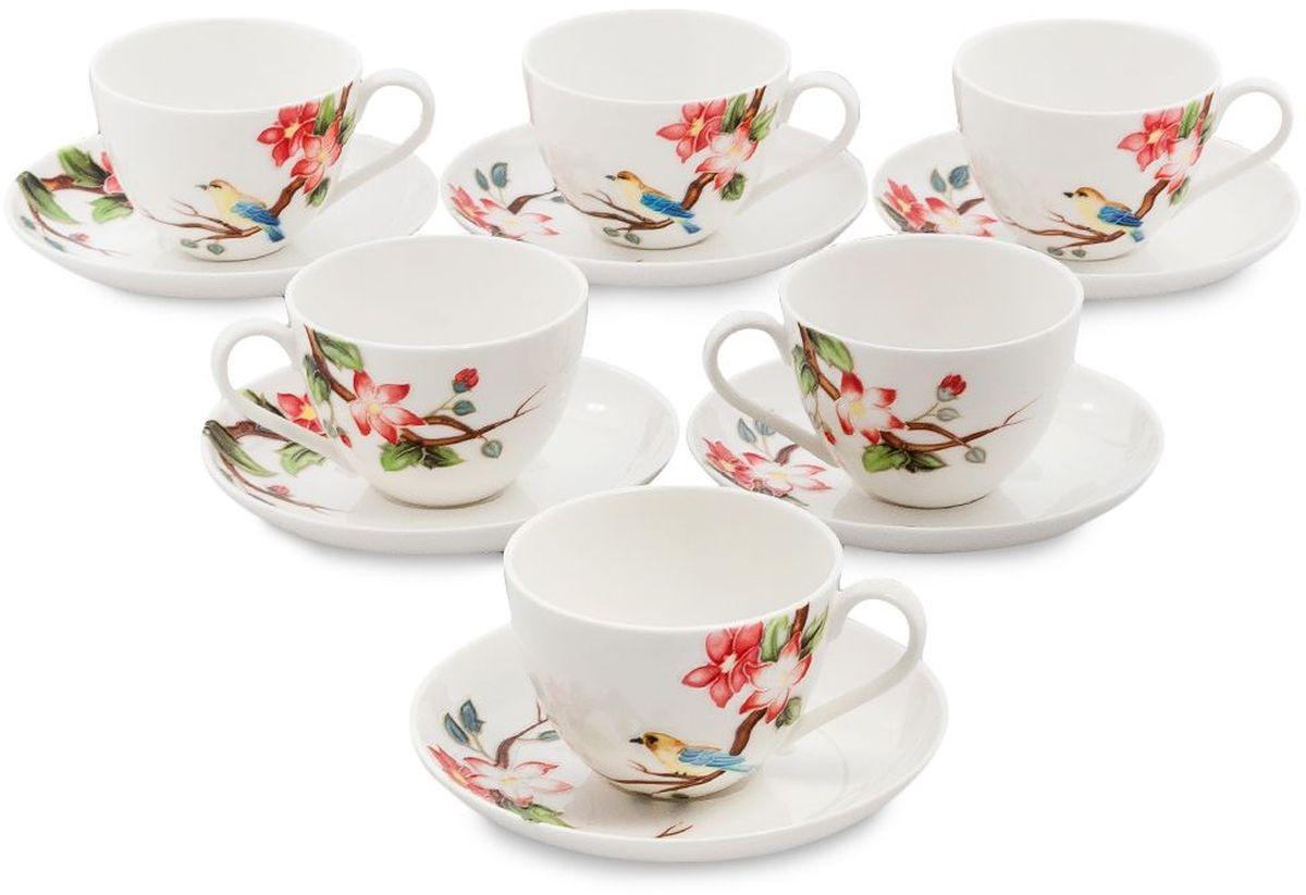 Набор чайный Pavone Райская птица, 6 предметов. 451597451597Объем чашки: 250 млДиаметр блюдца: 15 см.